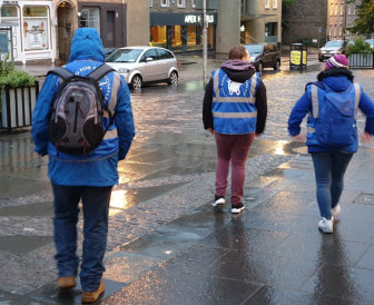 Volunteers from Homelessness Project Scotland